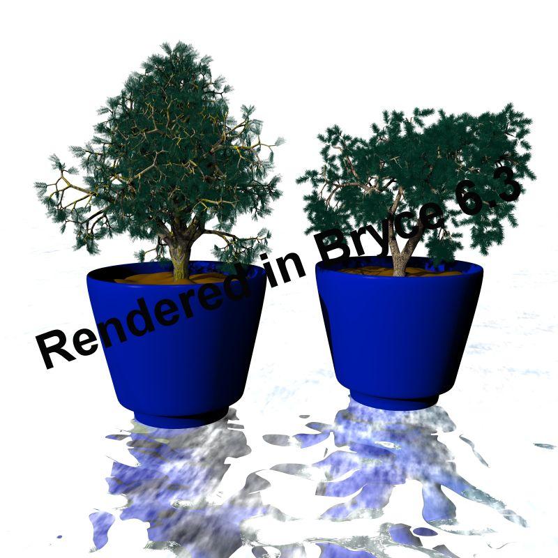 Blumentopf1, Render in Bryce 6.3