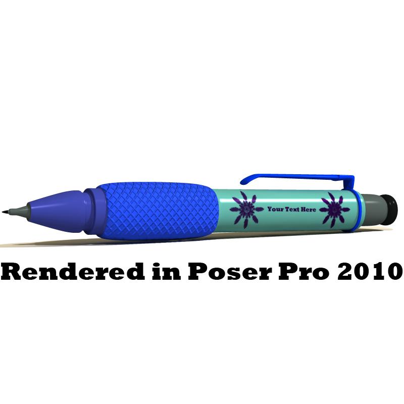 Stift1, gerendert in Poser Pro 2010