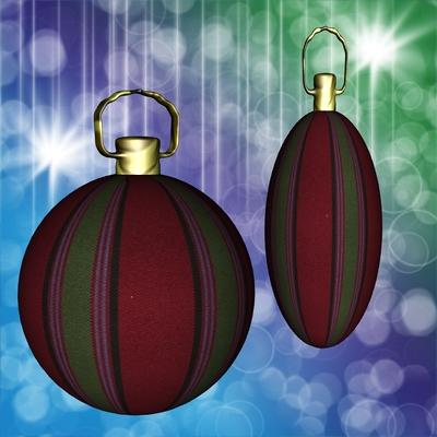 Weihnachtskugeln mit mitgelieferter Textur